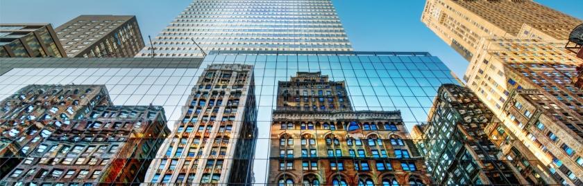 Technology Management Image: Skyscrapers Linkedin Background